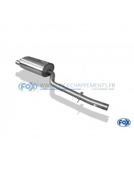 Tube de suppression de silencieux avant inox pour Opel Corsa D