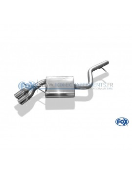 Tube de suppression de silencieux avant inox pour Mercedes CLS C219