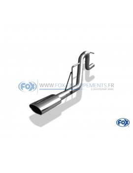 Tube de suppression de siilencieux avant inox pour VW Golf VII GTI