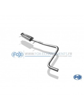 Tube de suppression de silencieux avant inox pour Ford Focus MK2 RS