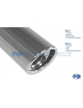 Tube de suppression de silencieux avant inox pour Ford Galaxy type WGR /Volkswagen Sharan type 7M