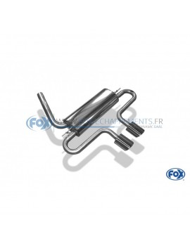 Tube de suppression de silencieux avant inox pour Ford Mustang coupé + cabriolet