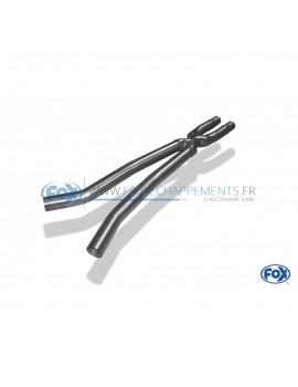 Tube de suppression de silencieux avant inox pour Volkswagen Jetta VI