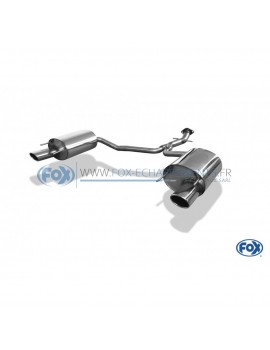Tube de suppression de silencieux avant inox pour Opel Corsa B