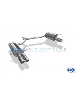 Tube de suppression de silencieux avant inox pour Audi 80 type B4