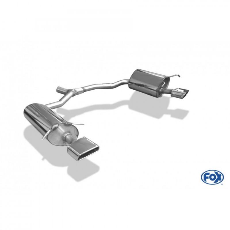 Silencieux arrière inox 1x135x80mm type 53 pour Audi A6 type 4B (sans découpe du pare-chocs)