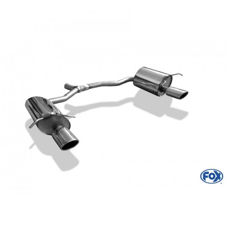Tube de suppression de silencieux avant inox pour Audi TT type FV3/8S quattro
