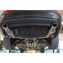 Silencieux arrière inox 2x76mm type 14 pour BMW E34 525i/530i