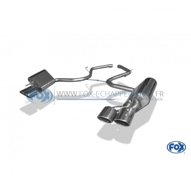 Silencieux arrière duplex D/G inox 1x160x90mm type 38 pour Seat Leon type 5F Cupra 300