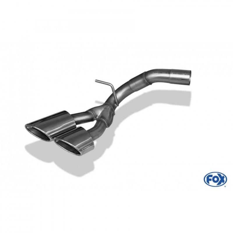 Silencieux arrière inox pour Ford Ranger MK6
