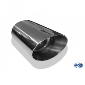 Embout d'échappement inox type 45 106x71mm / long 300mm / biseauté à 24.5°
