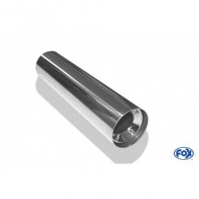 Embout d'échappement inox type 11 / Ø90mm / long 300mm