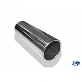 Embout d'échappement inox type 12 / Ø63mm / long 300mm