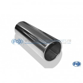 Embout d'échappement inox type 12 / Ø70mm / long 300mm