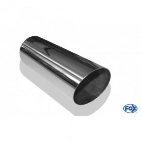 Embout d'échappement inox type 14 / Ø80mm / long 300mm / biseauté 15°