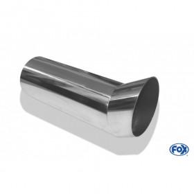 Embout d'échappement inox type 18 / Ø63mm / long 300mm