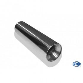 Embout d'échappement inox type 22 / Ø100mm / long 300mm
