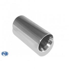 Embout d'échappement inox type 24 / Ø114mm / long 300mm
