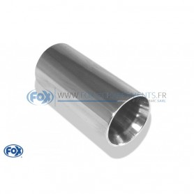 Embout d'échappement inox type 24 / Ø70mm / long 300mm