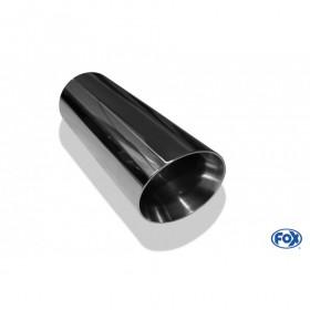 Embout d'échappement inox type 25 / Ø76mm / long 300mm