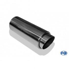 Embout d'échappement inox type 27 / Ø70mm / long 330mm