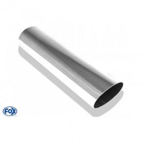 Embout d'échappement inox type 30 / 115x85mm / long 300mm / biseauté 24.5°