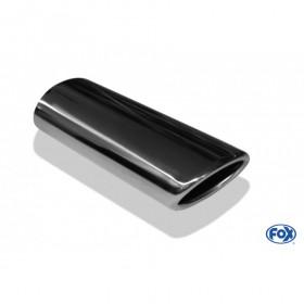 Embout d'échappement inox type 32 / 129x106mm / long 300mm / biseauté 24.5°