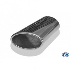 Embout d'échappement inox type 38 côté droit / 106x71mm / long 200mm