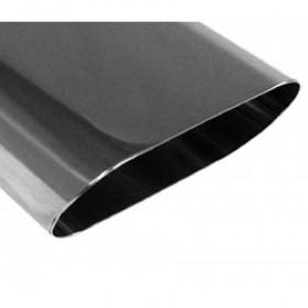 Embout d'échappement inox type 50 / 160x80mm / long 300mm