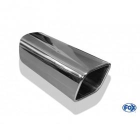 Embout d'échappement inox type 70 / 78x75mm / long 200mm / biseauté 15°