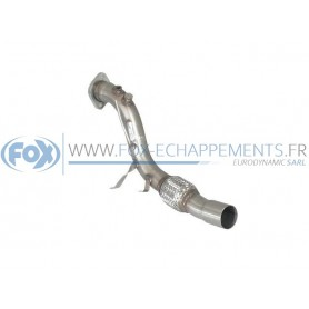 copy of Silent stainless steel rear 2x76mm type 10 for BMW 520D/525D/530D TYPE E60/61