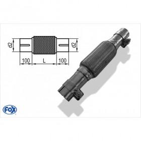 Flexible d'échappement inox / connexion Ø40mm intérieur / longueur 300mm