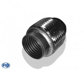 Flexible d'échappement inox / connexion Ø51mm intérieur / longueur 100mm