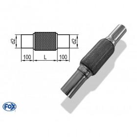 Flexible d'échappement inox / connexion Ø54mm intérieur / longueur 350mm