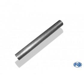Tube perforé inox / Ø63.5mm / longueur 600mm