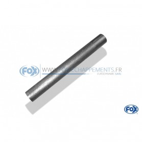 Tube perforé inox / Ø76mm / longueur 600mm