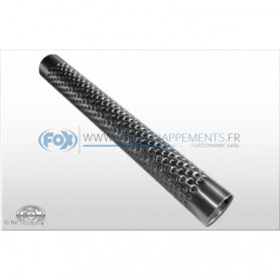 Tube perforé inox / Ø76mm / longueur 450mm