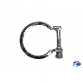 Collier pince inox / Ø61/77mm
