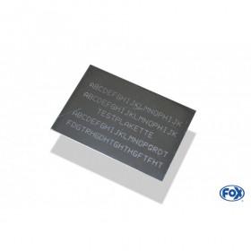 Plaque d'identification personnalisable / Ø70x100mm