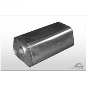 Silencieux universel type 711 en inox / 245x175mm / d1 Ø55mm/ longueur 420mm