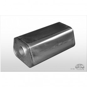 Silencieux universel type 711 en inox / 245x175mm / d1 Ø70mm/ longueur 420mm